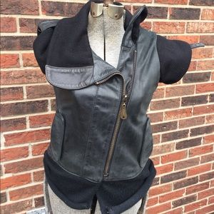 Doma Leather vest Woman's Small